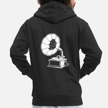 Collection For Kids record player - Men's Premium Zip Hoodie