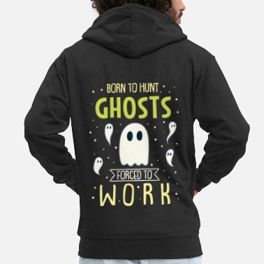 Casa Degli Spettri Ghost Ghost Hunter Paranormal Supernatural Haunted - Felpa con zip premium uomo