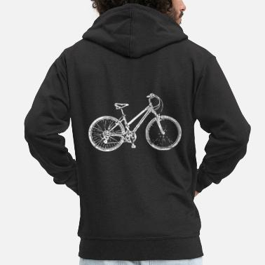 bicycle - Men's Premium Zip Hoodie