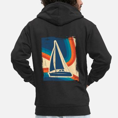 Sailboat Sailing sailboat gift sailor ship lake yacht - Men's Premium Zip Hoodie