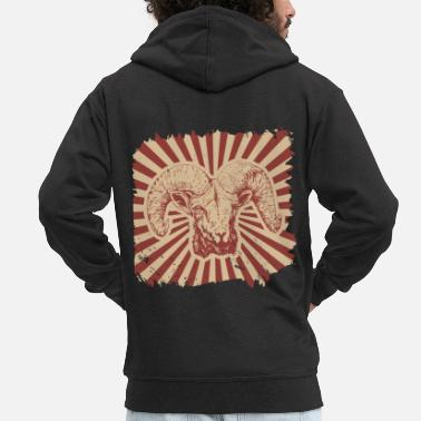 Milk Goat farm goat gift animal billy goat - Men's Premium Zip Hoodie