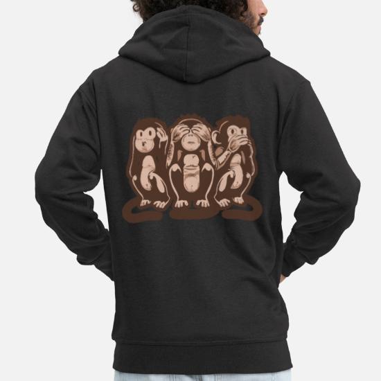 3 Weise Affen Emoji Unisex T-Shirt Sweatshirt Pullover Hoody Geschenk Lustig