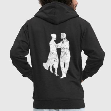 Ballet Dancer Dancing couple dancing dancers couple - Men's Premium Hooded Jacket