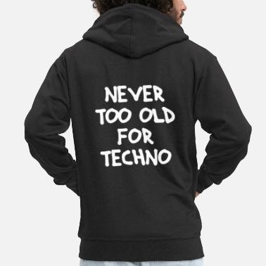 Basser Never too old for Techno - Männer Premium Kapuzenjacke