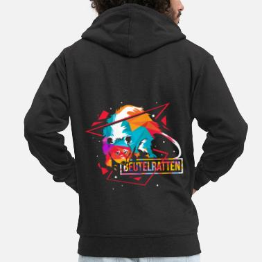 Poppy Poppy rats polygon - Men's Premium Zip Hoodie