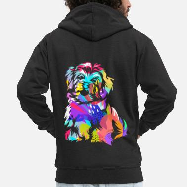 Protection Of The Environment havanese dog - Men's Premium Zip Hoodie