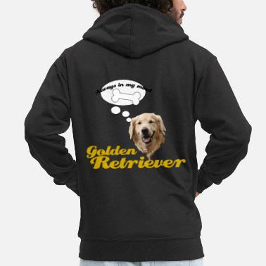 Cani Idea regalo Golden Retriever - Felpa con zip premium uomo