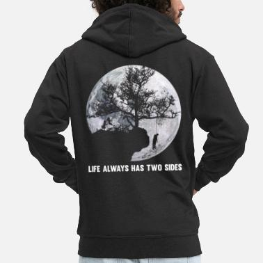 Depressed depression - Men's Premium Hooded Jacket