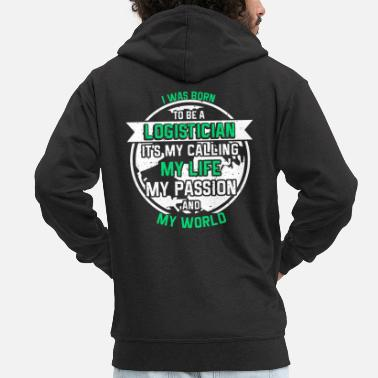 Professions Logistical profession - Men's Premium Zip Hoodie