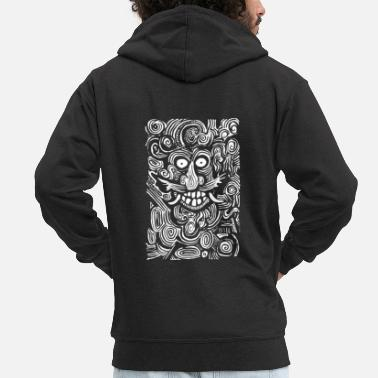Man The Green Man - Men's Premium Zip Hoodie