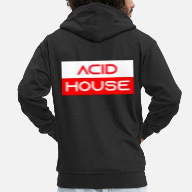 Acid House acid house techno - Men's Premium Hooded Jacket