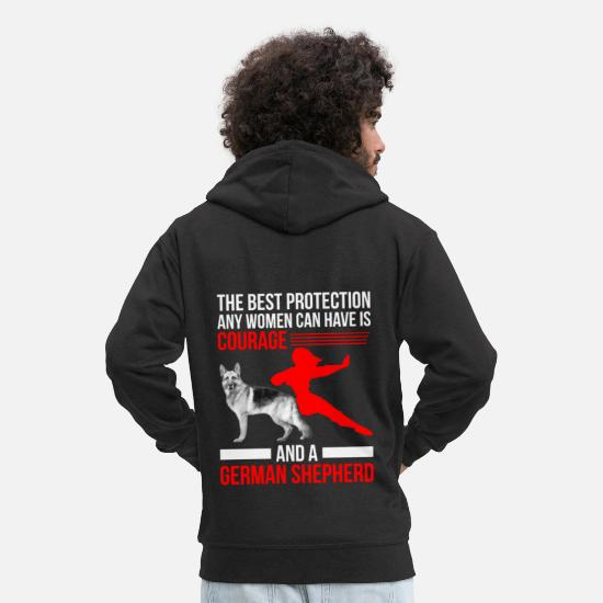 German Hoodies & Sweatshirts - German Shepherd - German Shepherd - Poison - Men's Premium Zip Hoodie black
