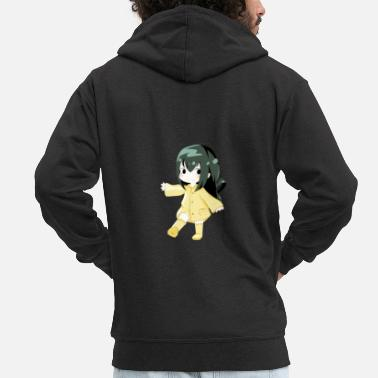 Japanimation My hero Academia - Tsuyu - Men's Premium Zip Hoodie