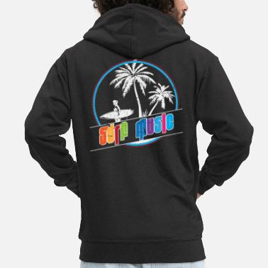 Surf Music Surfer music summer - Men's Premium Zip Hoodie