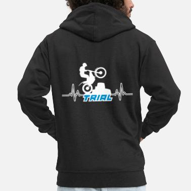 Trial trial motocross - Men's Premium Hooded Jacket