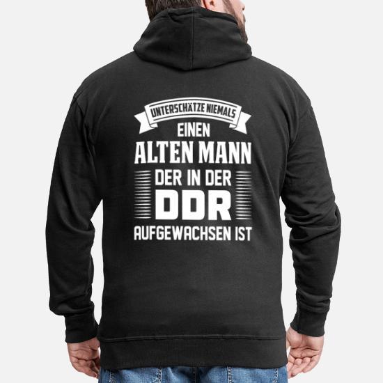 OSTDEUTSCHLAND Sweatshirt // Hoodie schwarz//weiss dresden leipzig S bis 3XL