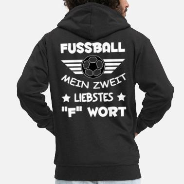 Football Fuck saying dirty - Men's Premium Hooded Jacket