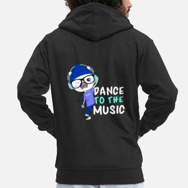 Dog Dancing dancing dog - Men's Premium Zip Hoodie