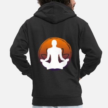 Meditation Yoga Power logo - Men's Premium Zip Hoodie