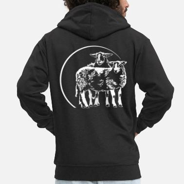 Sheep SHEEP Sheep Sheep - Men's Premium Hooded Jacket