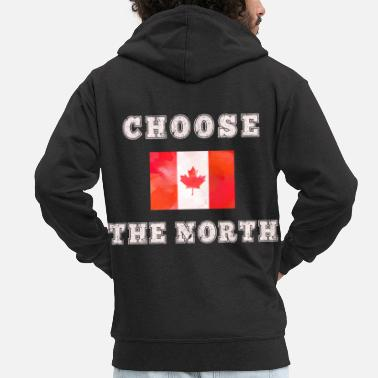 Nort America Canada flag saying pride flag flag - Men's Premium Zip Hoodie