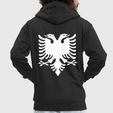 white Albanian eagle Albanian Double Eagle - Men's Premium Hooded Jacket