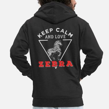 Animal Rights Activists zebra - Men's Premium Zip Hoodie