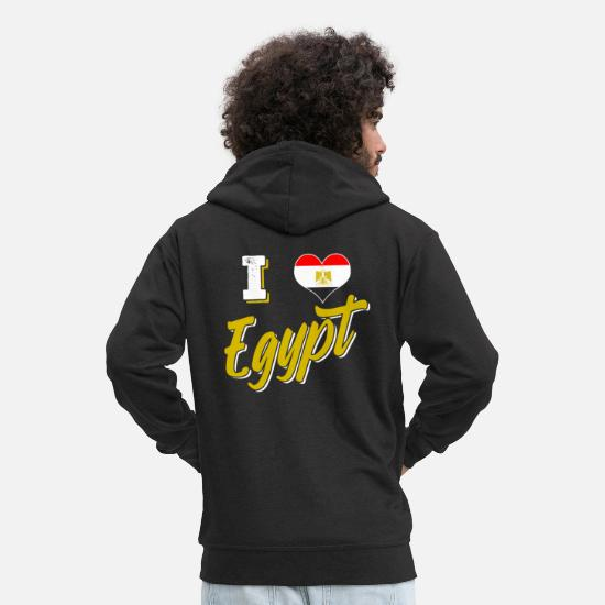 Patriot Hoodies & Sweatshirts - Egypt - Men's Premium Zip Hoodie black