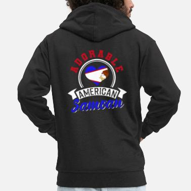 Place Of Birth American Samoa - Men's Premium Zip Hoodie