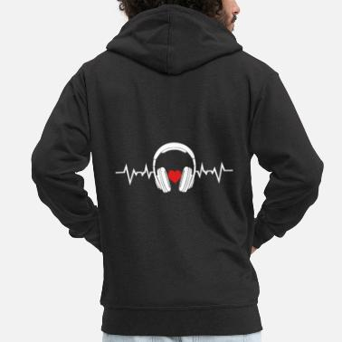 Headphones Casque Sound Heartbeat Sound Heart Music - Veste à capuche premium Homme