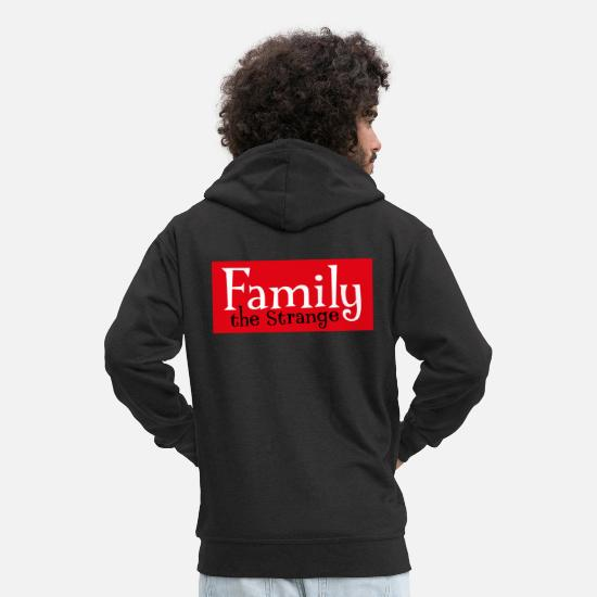 King Hoodies & Sweatshirts - Family the Strange II - Men's Premium Zip Hoodie black