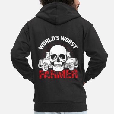 Tractor Tractor farmer - Men's Premium Hooded Jacket