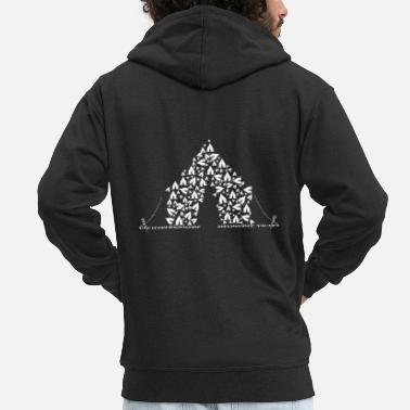 Tent Tent made of tents - Men's Premium Zip Hoodie