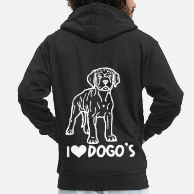 Tribal argentino dogo © www.dog-power.nl - Men's Premium Zip Hoodie