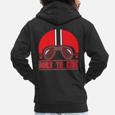 Mc Helmet red - Men's Premium Zip Hoodie