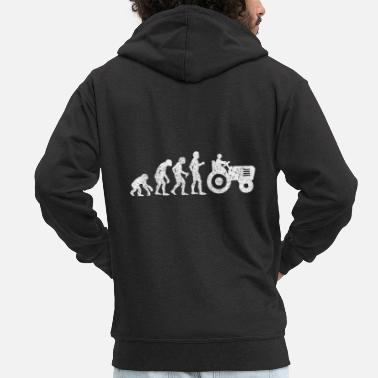 Evolution Farmer evolution - Men's Premium Zip Hoodie