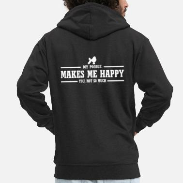 POODLE makes me happy - Männer Premium Kapuzenjacke