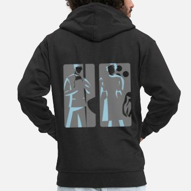 Romantic family - Men's Premium Zip Hoodie