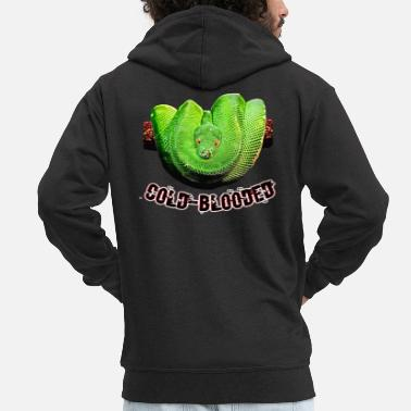 Cold Blood Snake cold-blooded - Men's Premium Zip Hoodie