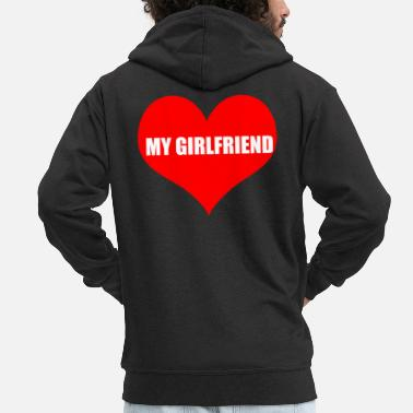 Girlfriend girlfriend - Men's Premium Zip Hoodie