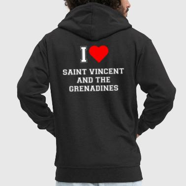 I love Saint Vincent and the Grenadines - Men's Premium Hooded Jacket