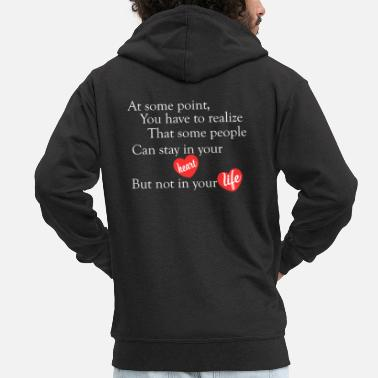 Beautiful beautiful love quotes - Men's Premium Zip Hoodie