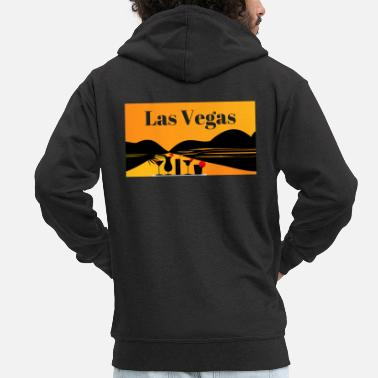 Las Vegas Las Vegas - Men's Premium Hooded Jacket
