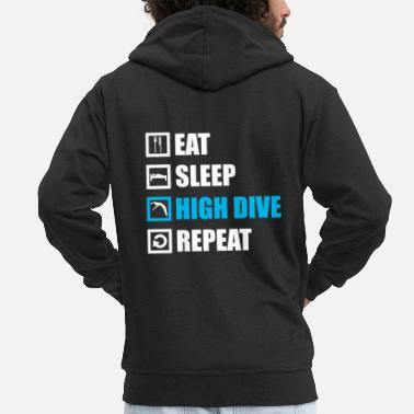 Dive Diving Diving - Men's Premium Zip Hoodie