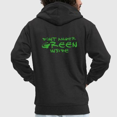 Dont Anger Green Inside - Hulk - Men's Premium Hooded Jacket