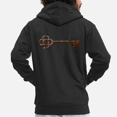 Ancient ancient key - Men's Premium Zip Hoodie