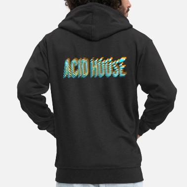 Acid House acid house - Men's Premium Zip Hoodie