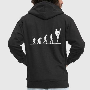 Firefighter Tshirt-Evolution - Men's Premium Hooded Jacket