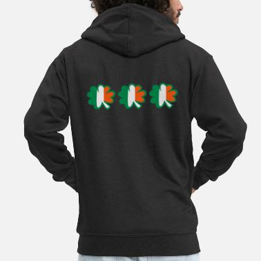 Calm Underwear ♥ټ☘Kiss the Irish Shamrocks to Get Lucky☘ټ♥ - Men's Premium Zip Hoodie
