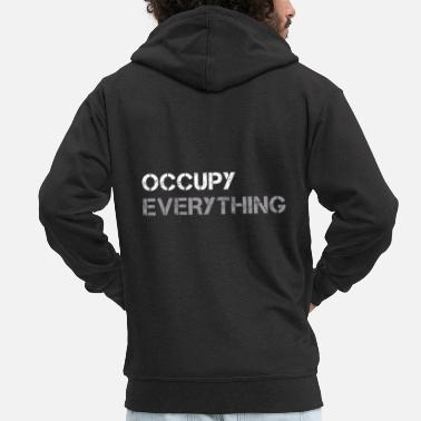 Occupy OCCUPY EVERYTHING - Männer Premium Kapuzenjacke